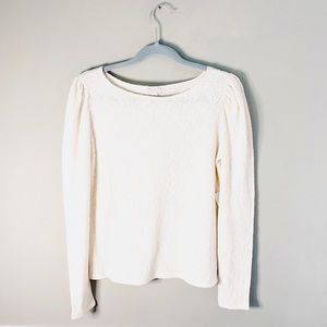 NWT Anthropologie by Hinge Long Sleeve Lacey Top